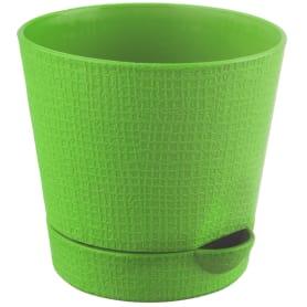 Горшок цветочный «Партер» D11, 0, 7л., пластик, Зеленый