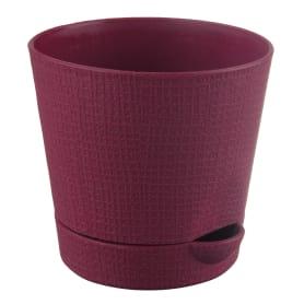 Горшок цветочный «Партер» бордовый 1.4 л 150 мм, пластик