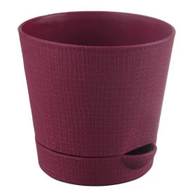 Горшок цветочный «Партер» бордовый 2.8 л 195 мм, пластик