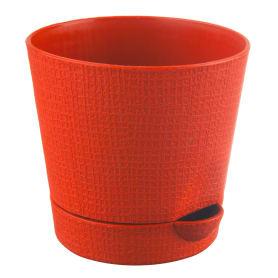 Горшок цветочный «Партер» оранжевый 2.8 л 195 мм, пластик