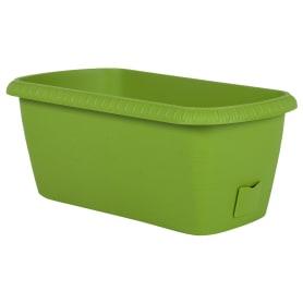 Ящик балконный «Жардин» 40х20х15.5 см, 12 л, пластик, Зеленый