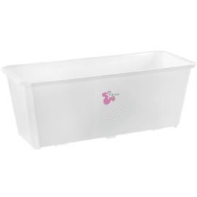 Ящик балконный 40х17х15 см, 7л, пластик, Белый