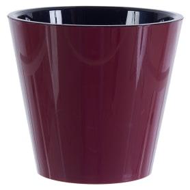 Горшок цветочный «Фиджи» бордовый 1.6 л 160 мм, пластик, с поддоном