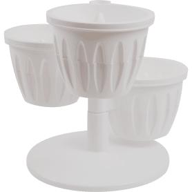Горшок цветочный «Каскад» белый 0.7 л 290 мм, пластик, с поддоном
