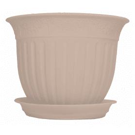 Горшок цветочный «Виноград» кремовый, 4 л 260 мм, пластик, с поддоном