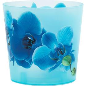 Кашпо «Деко» синий 1.2 л 125 мм, пластик