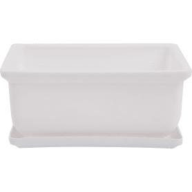 Горшок цветочный «Бонсайница» D15, 0, 8л., пластик, Белый