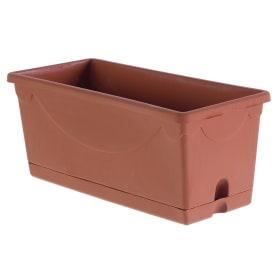 Горшок для рассады глина 1.8 л, пластик, с поддоном
