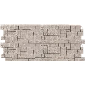 Фасадная панель FineBer Камень дикий мелованый цвет белый