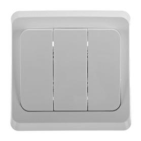 Выключатель Schneider Electric Этюд, 3 клавиши, цвет белый