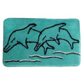 Коврик для ванной комнаты «Дельфин» 50х80 см цвет зелёный