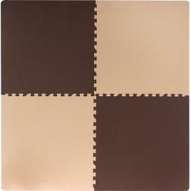 Пол мягкий полипропилен 60x60 см цвет бежево-коричневый, в упаковке 4 шт.