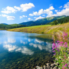 Фотообои флизелиновые «Озеро» 200х200 см