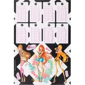 Наклейка «Школа-таблица умножения Winx Fas» Декоретто S
