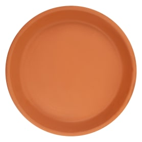Поддон для горшка, 21 см, керамика, цвет терракотовый