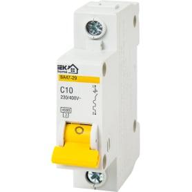 Выключатель автоматический IEK Home В А47-29 1 полюс 10 А