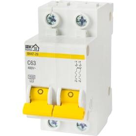 Выключатель автоматический IEK Home В А47-29 2 полюса 63 А