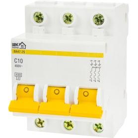 Выключатель автоматический IEK Home В А47-29 3 полюса 10 А