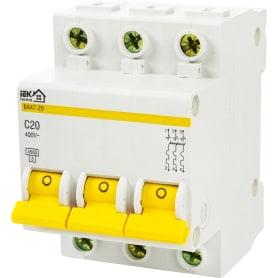 Выключатель автоматический IEK Home В А47-29 3 полюса 20 А
