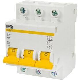 Выключатель автоматический IEK Home В А47-29 3 полюса 25 А
