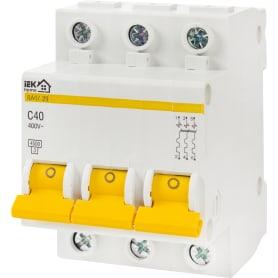 Выключатель автоматический IEK Home В А47-29 3 полюса 40 А
