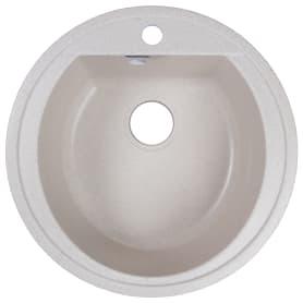 Мойка врезная Granfest Rondo GF-R, D50 см, мрамор, цвет бежевый