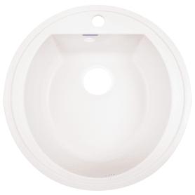 Мойка врезная Granfest Rondo GF-R 50 см цвет белый, мрамор