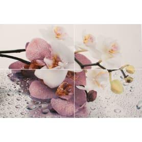 Панно «Orchid» 40х60 cм цвет лиловый/белый