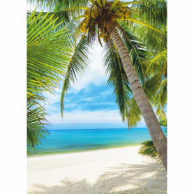 Фотообои бумажные «Под пальмой» 140x200 cм