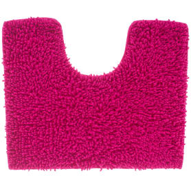 Коврик для туалета Crazy, 50x40 см, цвет розовый