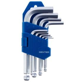 Набор ключей Dexter шестигранники Hex 1.5-10 мм 9 шт.