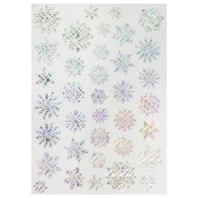 Наклейка «Сверкающие снежинки» Декоретто L