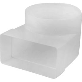 Колено соединитильное плоское-круглое, 55Х110, D100 мм