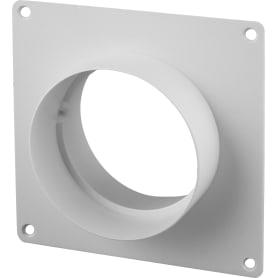 Пластина настенная с соединителем D100 мм