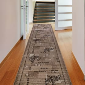 Дорожка ковровая «Мега 301» полипропилен 1 м цвет бежевый