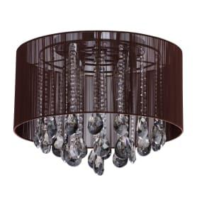 Люстра Жаклин 5xE14x60 Вт, металл/текстиль, цвет хром/коричневый