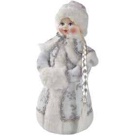 Сувенир под ёлку «Снегурочка» 35 см, цвет белый