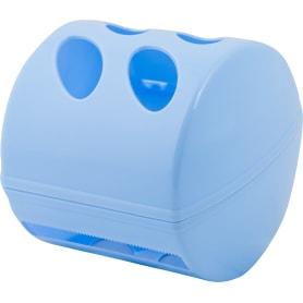 Держатель для туалетной бумаги «Aqua» с крышкой цвет белый