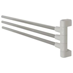 Полотенцедержатель тройной поворотный 45 см цвет хром