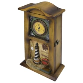 Декоративная ключница «Часы», 4 ключа
