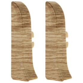 Заглушка для плинтуса левая и правая «Прато» 58 мм 2 шт.