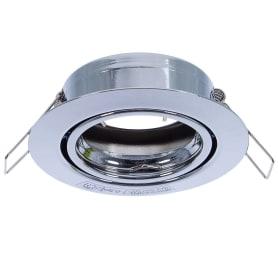Спот встраиваемый поворотный круглый, цоколь GU5.3, сталь, цвет хром