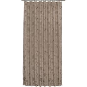 Штора на ленте «Калипсо» 160х260 см жаккард цвет коричневый