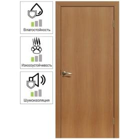 Дверь межкомнатная глухая ламинация цвет миланский орех 90x200 см