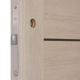 Дверь межкомнатная глухая Ницца 70x200 см, ПВХ, цвет кремовый, с фурнитурой
