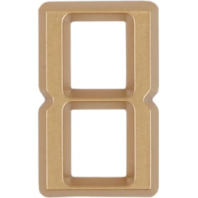 Цифра «8» Larvij самоклеящаяся 60х37 мм пластик цвет матовое золото