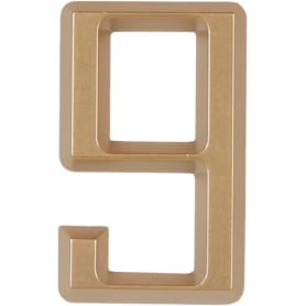 Цифра «9» Larvij самоклеящаяся 60х37 мм пластик цвет матовое золото