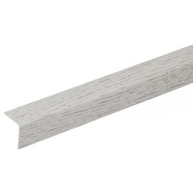 Угол ПВХ 20x20x2700 мм ясень серый