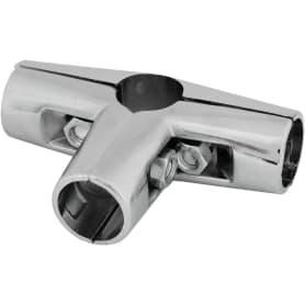 Соединитель четырёх труб d25 мм, цвет хром