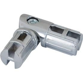 Соединитель труб поворотный d25 мм, цвет хром
